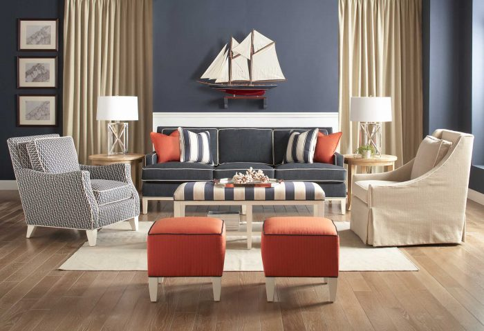 Braxton Culler Andrews Collection with Burke Ottoman